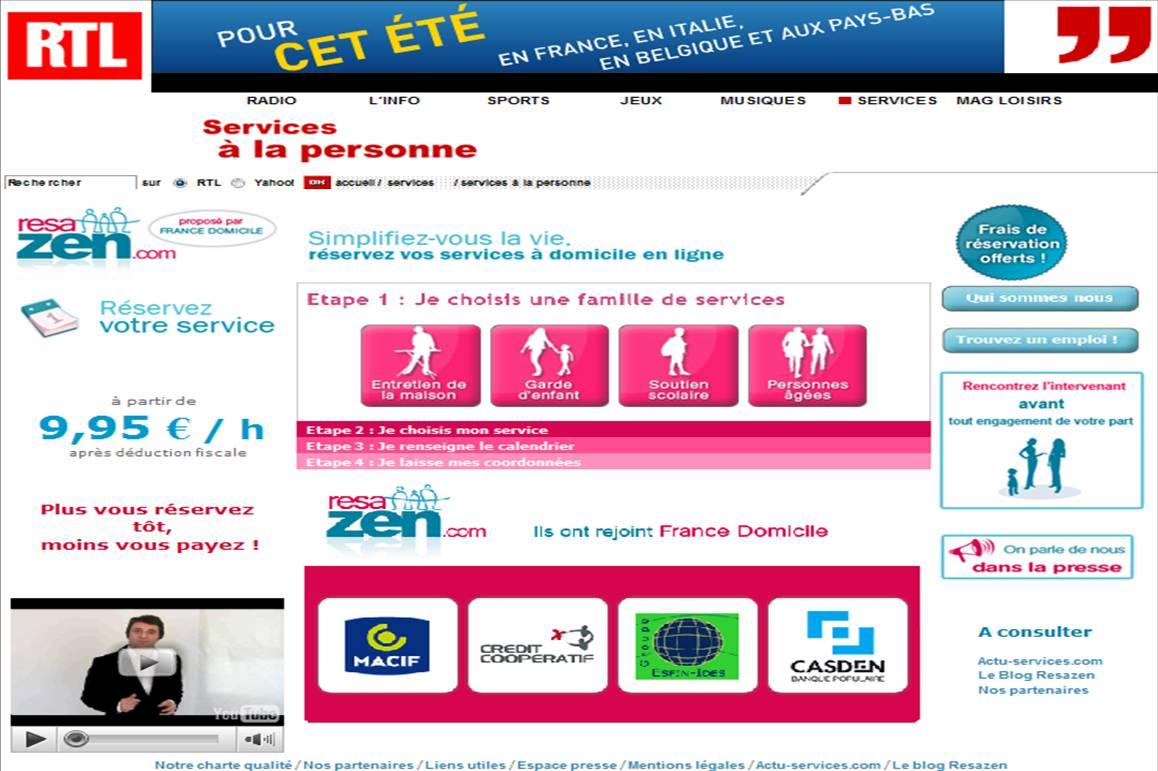 RTL SERVICES A LA PERSONNE