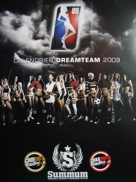 Calendrier Dream Team 2009